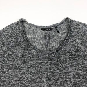 Anthropologie Tops - Anthropologie ZOA Raw Edge Marled Oversized Tee